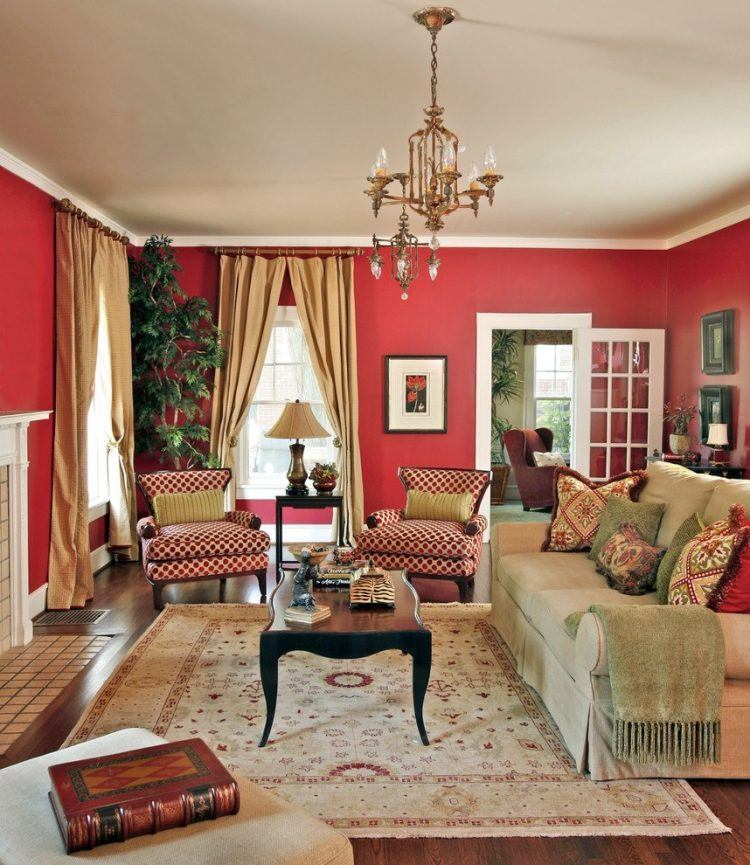 10 Red Living Room Ideas And Designs