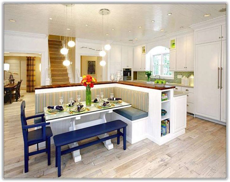 Kitchen Island And Seating Booth Combo