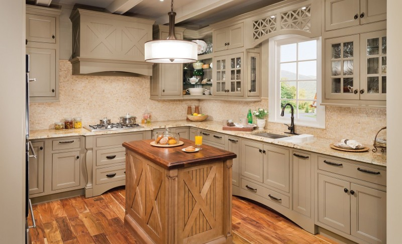 Really Beautiful White Vintage Kitchen Cabinets Remodel