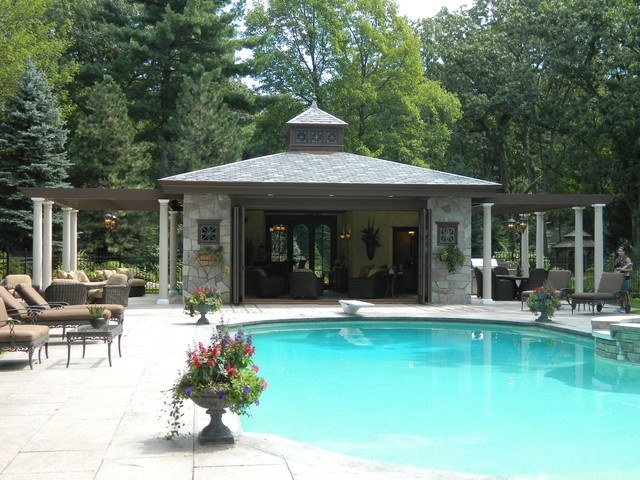 20 beautiful pool house designs for Pool house plans designs