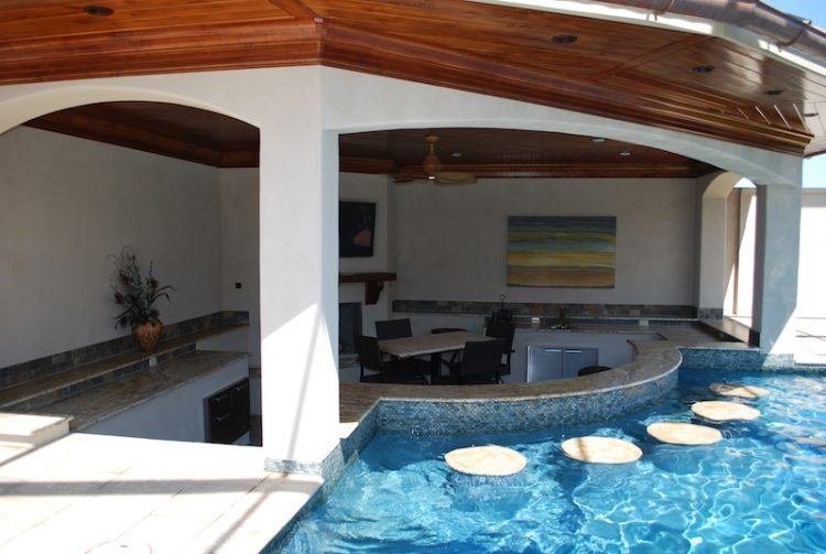 pool designs with swim up bar. Swim Up Bar With Travertine Pool Designs