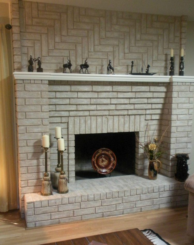 20 Beautiful Brick Fireplace Ideas To Keep You Warm on Brick Painting Ideas  id=36329