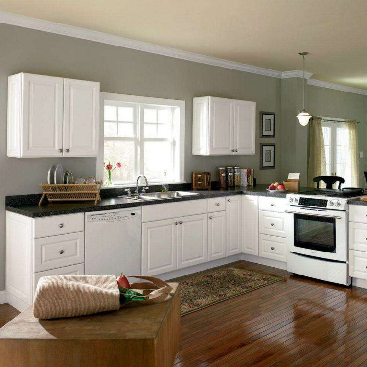 Antique White Kitchen Cabinets With Appliances