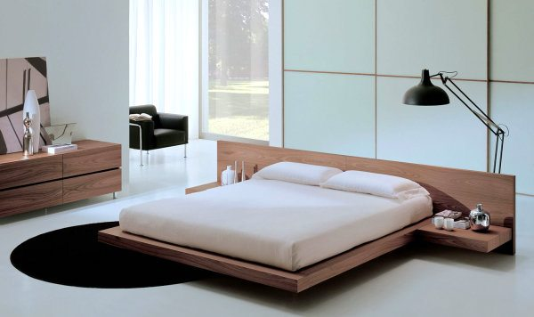 modern wood bedroom set