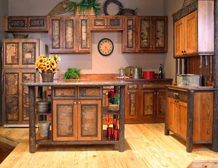Attractive Wonderful Custom Rustic Kitchen Cabinets